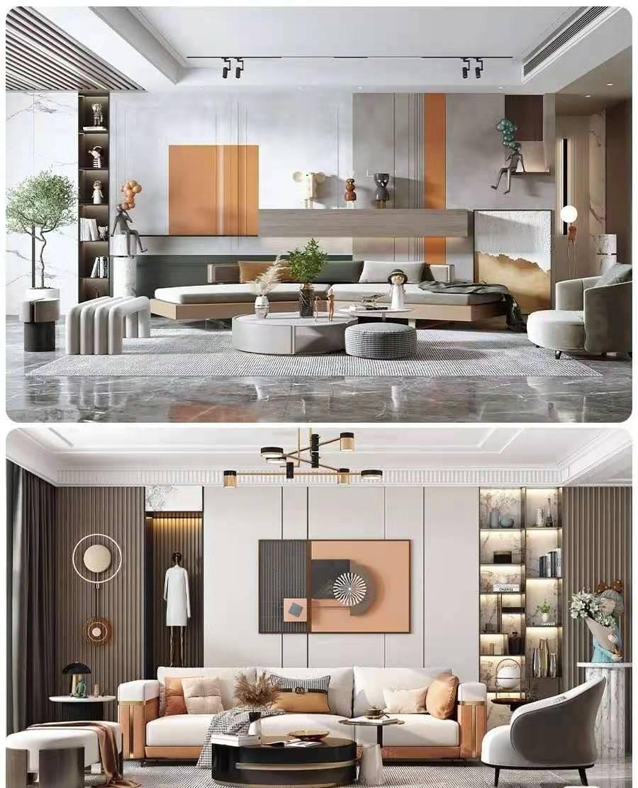 2021年即将流行的轻奢沙发背景护墙板